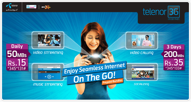 Telenor New internet Packages